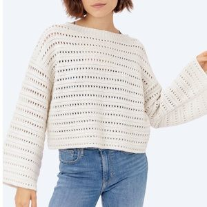 Lovestitch Cropped Knit Sweater